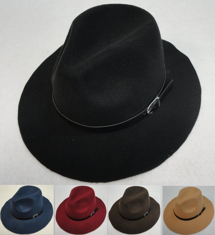 Small Brim Felt WESTERN Hat [Buckled Hat Band]